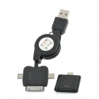 USB to Micro / Mini USB / Apple 30-Pin Data Cable + Lightning 8-Pin Male to 30-Pin Female Adapter