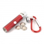 9103 7000K 2-LED White Light + Red Laser Flashlight Keychain - Red (3 x LR44)