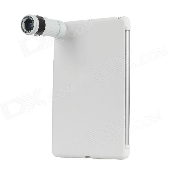 12X Optical Zoom Telephoto Lens + Shield Cover Case for Ipad MINI - White 12x zoom camera lens telescope for samsung galaxy s5 silver