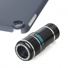 12X Lens Optical Magnification Telescope with Protective Back Case for iPad Mini - Black