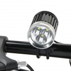1430lm 4-Mode White Bicycle Headlamp w/ 3 x Cree XM-L T6 - Black + Silver