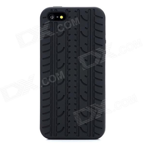 Protective Silicone Back Case for Iphone 5 - Black stylish bubble pattern protective silicone abs back case front frame case for iphone 4 4s