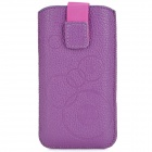 Protective PU Leather Pouch Case for Iphone 5 / Iphone 4 / Iphone 4S - Purple