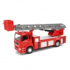 YB 9535-2 1: 32 Die Cast Fire Truck Model - Red + Grey + Black