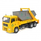 YiBao 9535-7 1:32 Scale Plastic Garbage Truck Car Model Toy - Yellow + Grey + Black