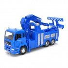 YiBao 9535-5 1:32 Scale Zinc Alloy + ABS Traffic Rescue Vehicle Crane Model Toy - Blue