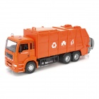 YiBao 9535-4 1:32 Scale Zinc Alloy + ABS Garbage Truck Car Model Toy - Orange + Black + Grey