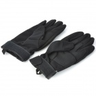 Outdoor Sports Full Finger Windproof Riding Gloves - Black (Size M / Pair)