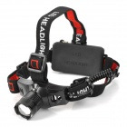 LaoLang 002 Cree XR-E Q5 160lm 3-Mode White Headlamp - Black + Red (1 x 18650 / 3 x AAA)