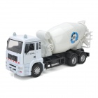 Yibao 9535-6 1:32 Zinc Alloy + ABS Mixer Truck Car Model Toy - White + Black