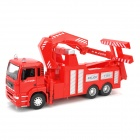 YiBao 9535-5 1:32 Scale Zinc Alloy + ABS Traffic Rescue Vehicle Crane Model Toy - Red
