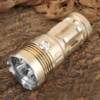 XL-14 3x Cree XM-L U2 2400lm 3-Mode White Flashlight - Light Golden (1~4 x 18650)