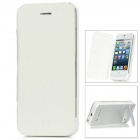1900mAh Emergency Battery Pack Charger w /PU Leather Cover + USB Cable for iPhone 5 - White