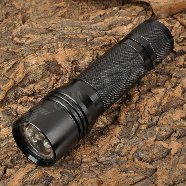 X007A 7-LED 80lm Cool White Flashlight - Black (2 x CR123A / 16340)