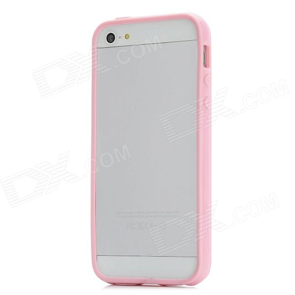 Protective Silicone Bumper Frame Case w/ Screen Protector for Iphone 5 - Pink стоимость