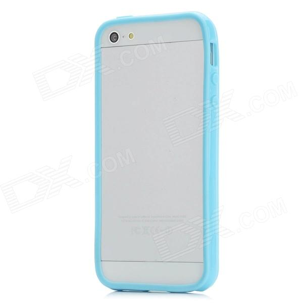 Protective Silicone Bumper Frame Case w/ Screen Protector for Iphone 5 - Blue сотовый телефон meizu pro 7 64gb red