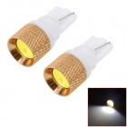 WL2013011366 T10 1.5W 6500K 70lm 1-SMD LED White Car License Plate / Width Lamps (12V / 2 PCS)