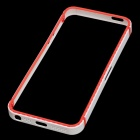 Protective Plastic Frame Guard for iPhone 5 - White + Red