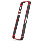 Protective Plastic Frame Guard for iPhone 5 - Black + Red