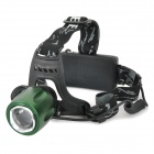068F Cree XM-L T6 700lm 3-Mode White Zooming Headlamp - Black + Dark Green (1/2 x 18650)