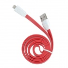 8-Pin-Blitz USB 2.0 Data / Laden Flachbandkabel für iPhone 5 / iPad 4 - Rot (1m)