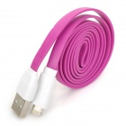 Flache Blitz 8-Pin Stecker auf USB 2.0 Male Data Sync / Ladekabel für iPhone 5 - Purple (100cm)