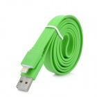 8-pin Lightning USB Data / Charging Flat Cable for iPhone 5 / iPod Touch 5 + More - Green (1m)