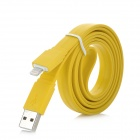 8-pin Lightning USB Data / Charging Flat Cable for iPhone 5 / iPod Touch 5 + More - Yellow (1m)
