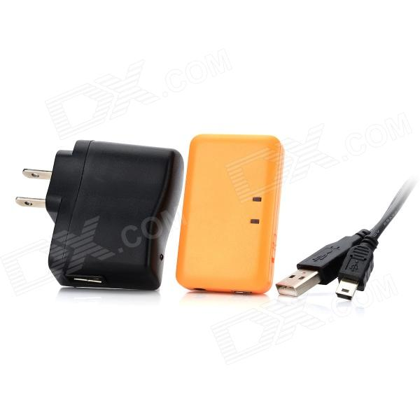 Rechargeable Bluetooth Wireless Music Receiver w/ 3.5mm Jack for IPHONE + IPAD + IPOD - Light Orange