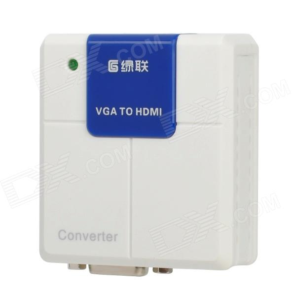 Portable VGA to HDMI Converter for PC / Laptop / VD - White + Blue rs232 to rs485 converter with optical isolation passive interface protection