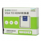 Portable VGA to HDMI Converter for PC / Laptop / VD - White + Blue