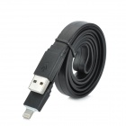 8-pin Lightning USB Data / Charging Flat Cable for iPhone 5 / iPod Touch 5 + More - Black (1m)