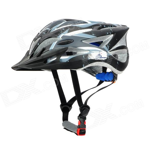 OQsport 009 28-Venthole Outdoor Sports Cycling Helmet - Black (L-Size)