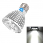 E5-Lighting E27 4W 340lm 6000K White 4-LED Light Bulb - Silver (85~265V)