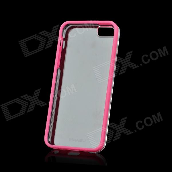 USAMS Protective TPU + PC Back Case for Iphone 5 - Pink + Transparent