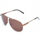 OREKA 6002 Fashionable Man's UV400 Protection Sunglasses - Tan