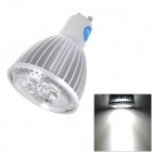 E5-Lighting GU10 4W 340lm 6000K White 4-LED Light Bulb - Silver (85~265V)