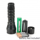D20+1 21-LED 80lm 4-Mode White + Red Laser Flashlight - Black (3 x AAA / 1 x 18650)