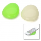 Pebbles Shape Multifunction Silicone Laptop Coolers - Translucent White + Green