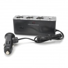 LSON USB 3 Sockets Car Cigarette Lighter Charger Adapter - Black (12 / 24V)