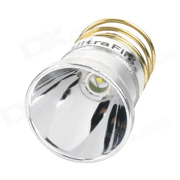 UltraFire 340lm 3-Mode White Aluminum Smooth Reflector Drop-In Module w/ CREE XR-E R2 - Silver