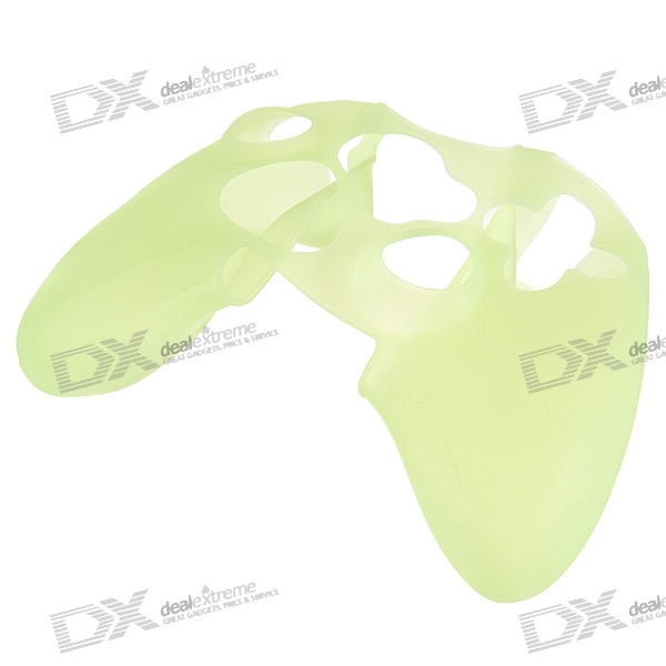 Silicone Protective Case for Xbox 360 Controller (Translucent Green)
