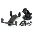 Car Windshield Swivel Mount w/ Suction Cup Set for Samsung Galaxy Note 10.1 N8000 + More - Black