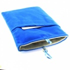 "Universal 5"" Velveteen Bag for Cellphone w/ Buckle - Light Blue"
