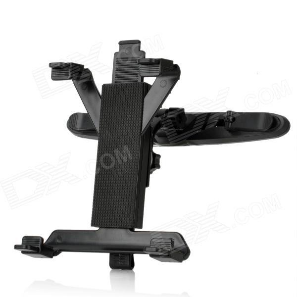 Universal Car Seat Headrest 360 Degrees Rotate Mount Holder w/ Car Charger for Tablet PC - Black