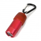 Car Powered LED 40lm White Flashlight w/ Quick Release Buckle - Red