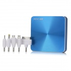 HCHC H-8 11200mAh Emergency External Battery Charger w/ Adapters for iPhone / Samsung - Blue + Black