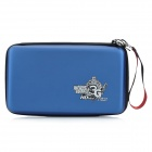 CITYWOLF Protective Dual Zippers Hard Bag w/ Strap for Nintendo Wii U GamePad - Blue + Black