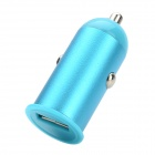 HJ-021 Car Cigarette Powered USB Adapter Charger for Cellphone - Blue (DC 12~24V)