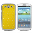 CrystalCoating Protective Back Case for Samsung Galaxy S3 / i9300 - Yellow + Silver